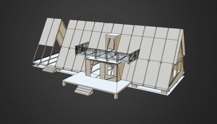 Plan de construction de la maison en A