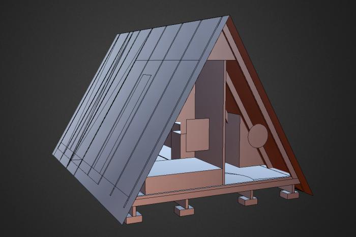 Plan Maison en A 25 m2 A Frame